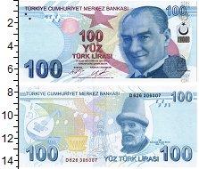 Изображение Банкноты Турция 100 лир 2009  UNC