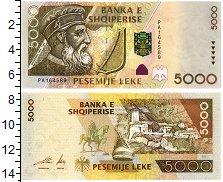Изображение Банкноты Албания 5000 лек 2001  UNC