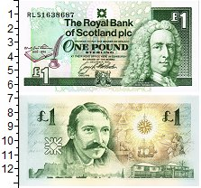 Изображение Банкноты Шотландия 1 фунт 1994  UNC