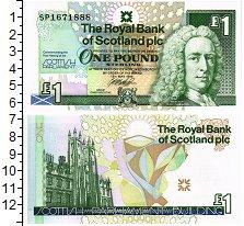 Изображение Банкноты Шотландия 1 фунт 1999  UNC
