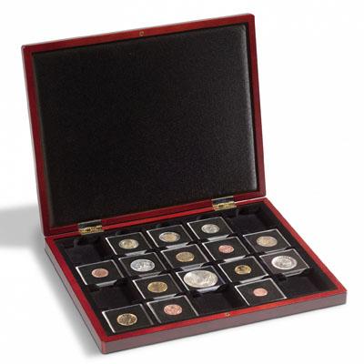 Изображение Аксессуары для монет Кейсы Деревянный кейс для капсул QUADRUM (341012) 0