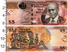 Изображение Банкноты Багамские острова 5 долларов 2013  UNC