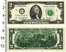 Изображение Банкноты США 2 долларов 2013  UNC