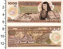 Изображение Банкноты Мексика 1000 песо 1985  UNC