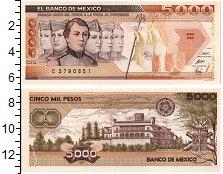 Изображение Банкноты Мексика 5000 песо 1989  UNC-