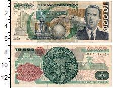 Изображение Банкноты Северная Америка Мексика 10000 песо 1987  XF