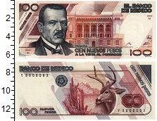 Изображение Банкноты Мексика 100 песо 1992  UNC