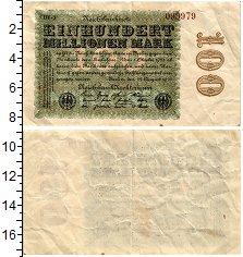 Изображение Банкноты Веймарская республика 100000000 марок 1923  XF-