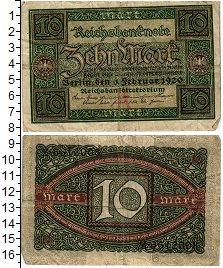 Изображение Банкноты Веймарская республика 10 марок 1920  VF