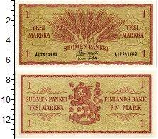 Изображение Банкноты Финляндия 1 марка 1963  UNC