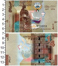 Изображение Банкноты Кувейт 1/4 динара 2014  UNC