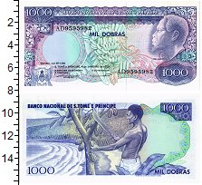 Изображение Банкноты Сан-Томе и Принсипи 1000 добрас 1989  UNC