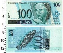 Изображение Банкноты Южная Америка Бразилия 100 реалов 1994  UNC-