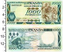 Изображение Банкноты Руанда 1000 франков 1988  UNC