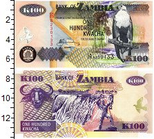 Изображение Банкноты Замбия 100 квач 2006  UNC