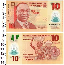 Изображение Банкноты Африка Нигерия 10 найра 2011  UNC