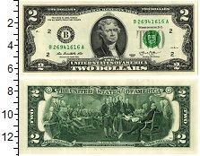 Изображение Банкноты США 2 доллара 2013  UNC
