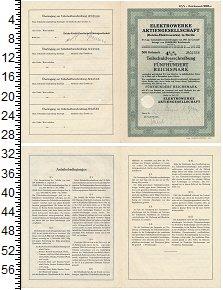 Изображение Банкноты Третий Рейх 500 марок 1937  XF 41/2% комунальная об
