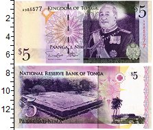 Изображение Банкноты Тонга 5 панга 2008  UNC