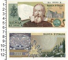 Изображение Банкноты Италия 2000 лир 1973  UNC