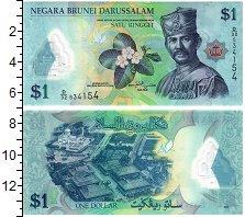Изображение Банкноты Бруней 1 доллар 2013 Пластик UNC Султан Брунея.  Мече