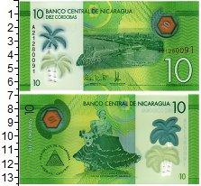 Изображение Банкноты Никарагуа 10 кордоба 2014 Пластик UNC