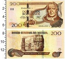 Изображение Банкноты Боливия 200 боливиано 1986  UNC