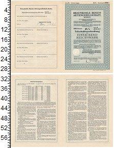 Изображение Банкноты Третий Рейх 1000 марок 1941  UNC 4 1/2% облигация