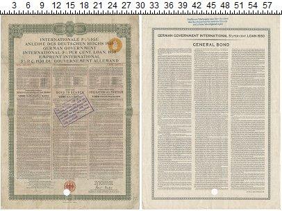 Изображение Банкноты Веймарская республика 1000 марок 1930  VF 5 1/2% Облигация