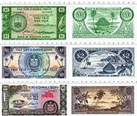 Изображение Банкноты Самоа Набор из 3 бон 1967  UNC