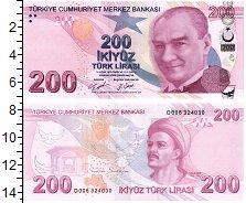 Изображение Банкноты Азия Турция 200 лир 2009  UNC