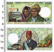 Изображение Банкноты Коморские острова 5000 франков 0  UNC