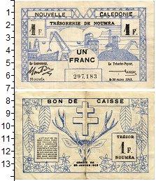 Изображение Банкноты Новая Каледония 1 франк 1943  XF