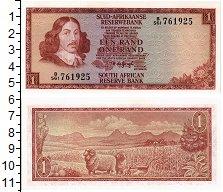 Изображение Банкноты ЮАР 1 ранд 1973  UNC Йохан ван Рибек
