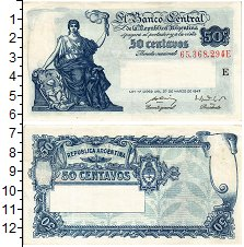 Продать Банкноты Аргентина 50 сентаво 1947
