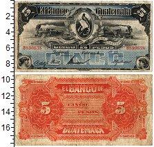 Изображение Банкноты Гватемала 5 песо 1915  VF
