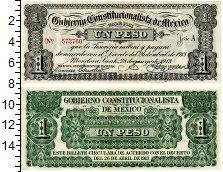 Изображение Банкноты Мексика 1 песо 1913  XF+ Конституционное прав