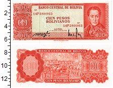 Изображение Банкноты Боливия 100 боливиано 1962  UNC