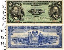 Изображение Банкноты Мексика 10 песо 1915  VF Свободное и суверенн