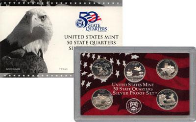 Изображение Подарочные монеты США Серебряные четвертаки 2004 года 2004 Серебро Proof