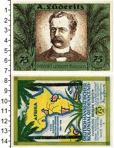 Изображение Банкноты Германия : Нотгельды 75 пфеннигов 1922  XF Африканские коллонии