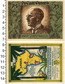 Изображение Банкноты Германия : Нотгельды 75 пфеннигов 1921  XF Африканские коллонии