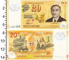 Изображение Банкноты Сингапур 20 долларов 2007 Пластик UNC