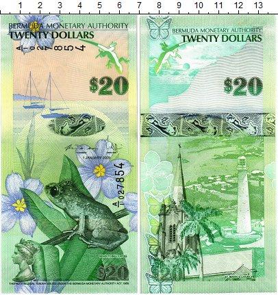 Изображение Банкноты Бермудские острова 20 долларов 2009  UNC