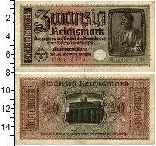 Изображение Банкноты Третий Рейх 20 марок 0  VF