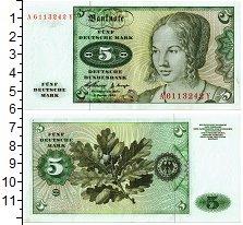 Изображение Банкноты ФРГ 5 марок 1980  UNC