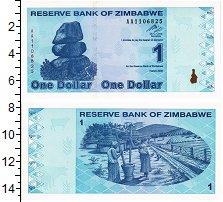 Изображение Банкноты Зимбабве 1 доллар 2009  UNC