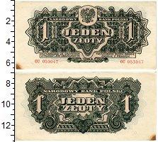 Изображение Банкноты Польша 1 злотый 1944  XF- Советские войска