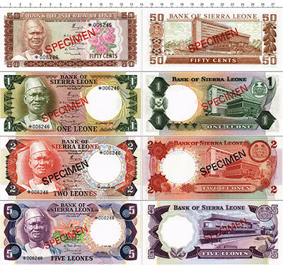 Изображение Банкноты Сьерра-Леоне 5000 динар 1978  UNC
