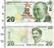 Изображение Банкноты Турция 20 лир 2009  UNC Портрет Мимара Кемал